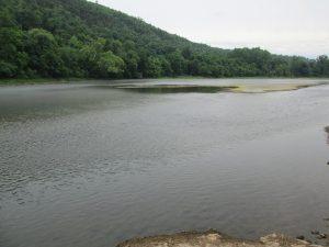 Bull Shoals White River State Park Upstream River View